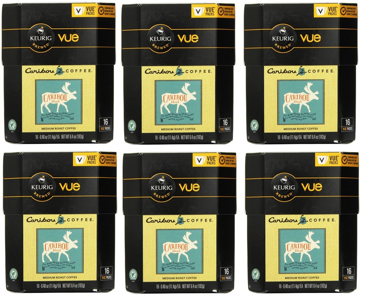 96 Count - Caribou Blend Vue Cup Coffee For Keurig Vue Brewers