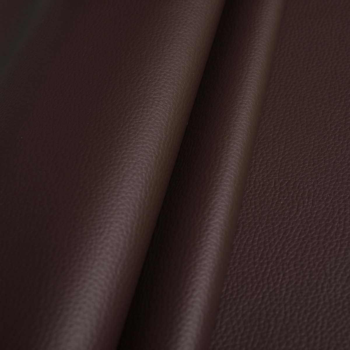 FAUX LEATHER LEATHERETTE UPHOLSTERY FABRIC WIDELY USED - Brown ETA