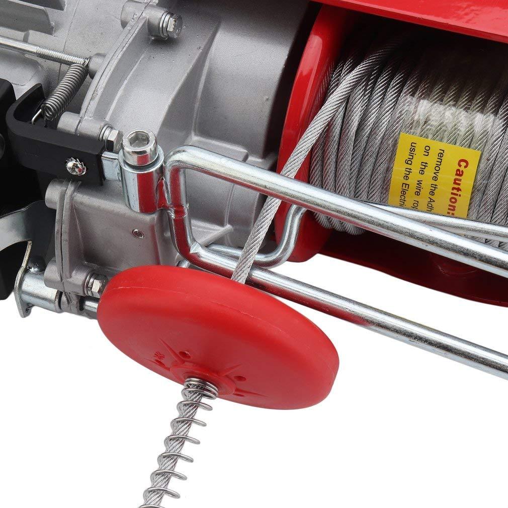 Blackpoolal Seilhebezug Elektrisch 230v 100//200kg Seilwinde Motorwinde Hub Seilzug Winde Kran 500W 12M Tragkraft 200 kg