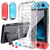 HEYSTOP Switch Case for Nintendo Switch Case Dockable with Screen Protector, Protective Case Cover for Nintendo Switch Temper