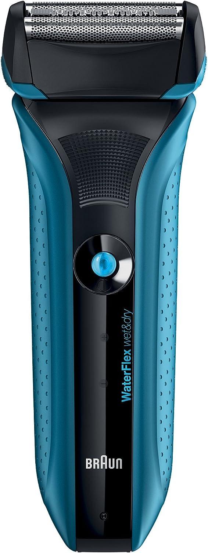 Braun WaterFlex WF2S - Afeitadora eléctrica con tecnología Wet & Dry, color azul