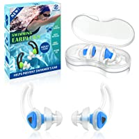2 Pairs Swimmer Ear Plugs, Hearprotek Upgraded Custom-fit Water Protection Adult Swimming earplugs for Swimmers Water…