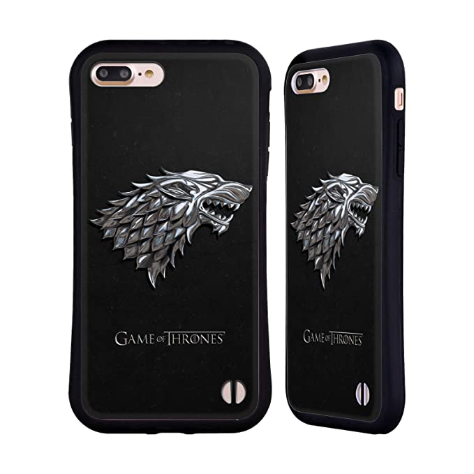 new product f408f 9a5c3 Official HBO Game of Thrones Silver Stark Sigils Hybrid Case for iPhone 7  Plus/iPhone 8 Plus