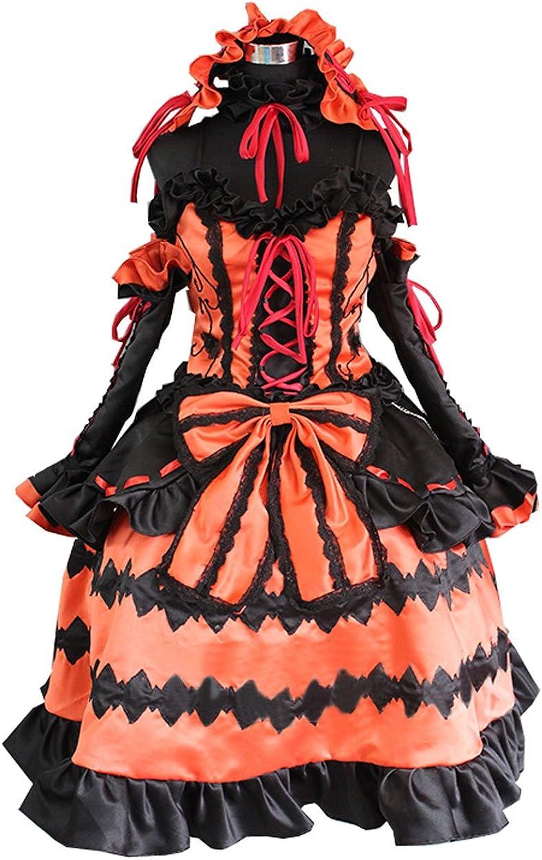 Amazon.com: cosnew Anime Kurumi Gothic Lolita vestido peluca ...
