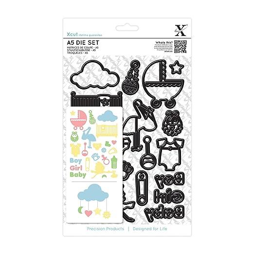 2 opinioni per Xcut- Set fustelle A5- New Baby Icons
