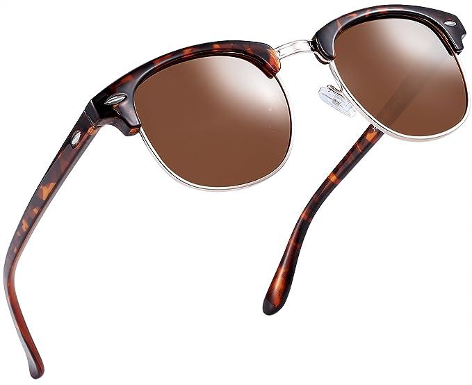 43dbb177ee2 Joopin Semi Rimless Polarized Sunglasses Women Men Retro Brand Sun Glasses  (Leopard Frame)  Amazon.in  Clothing   Accessories