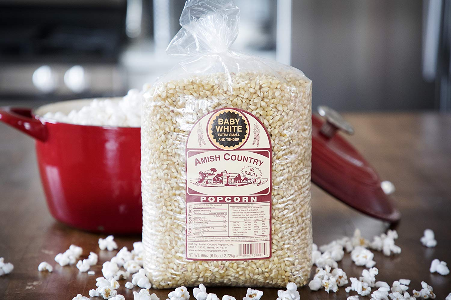 Amish Country Popcorn - Baby White (6 Pound Bag) - Small & Tender Popcorn - Old Fashioned And Delicious with Recipe Guide by Amish Country Popcorn (Image #4)