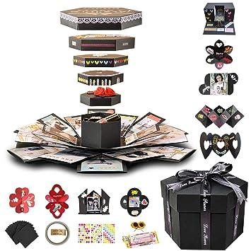 Amazon.com: Juego de álbum de recortes y caja de regalo para ...