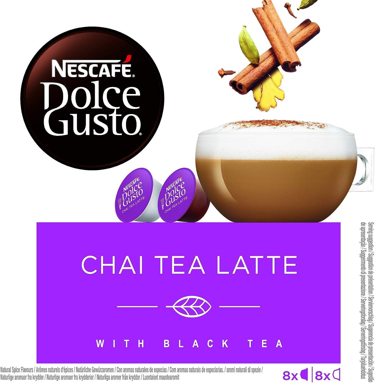 NESCAFÉ Dolce Gusto Chai Tea Latte, Pack de 3 x 16 Cápsulas ...