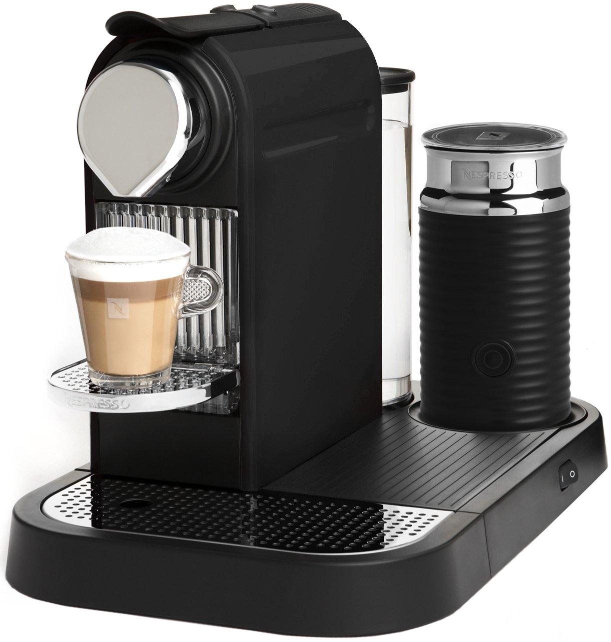 Amazon Nespresso D120 US BK NE CitiZ Automatic Single Serve Espresso Maker And Milk Frother Limousine Black Machines Kitchen Dining