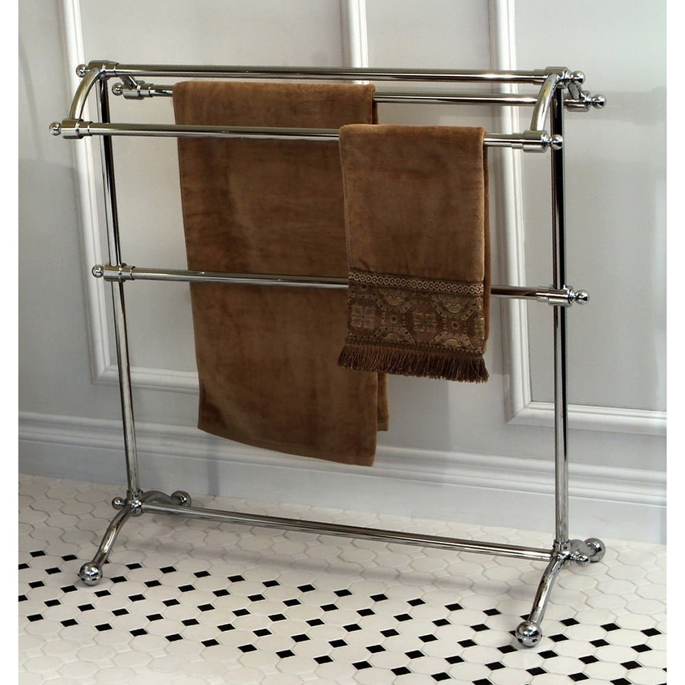 Kingston Brass Vintage Pedestal Chrome-Finished Solid-Brass Towel Stand