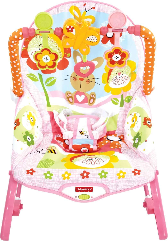Mattel Y4544 - Fisher-Price Pink 3-in-1 Schaukelsitz mit Massagefunktion Fisher Price