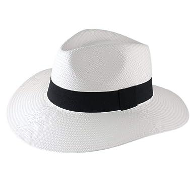 coupe classique Braderie forme élégante Classic Italy - Chapeau Panama Paille Large Bord Homme ou Femme Classic  Panasoft Traveller