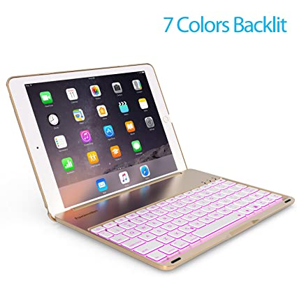 amazon com favormates keyboard case for ipad 2018 (6th gen) ipadfavormates keyboard case for ipad 2018 (6th gen) ipad 2017 (5th gen) ipad air 1 thin \u0026 light aluminum alloy wireless bt backlit 7 color ipad