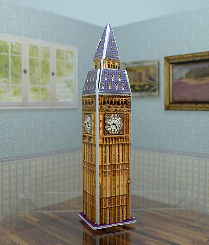 Amazon.com: Mini 3D Puzzles Architecture Elizabeth Tower : Big Ben Easy for Baby 3 Years and more Mini Size 2.6