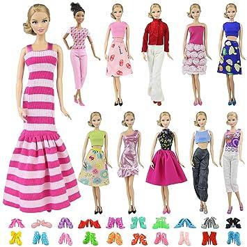 Barbie Kleidung Puppen Kleider Accessoires Geschenk für Mädchen Kostüm Zubehör Babypuppen & Zubehör