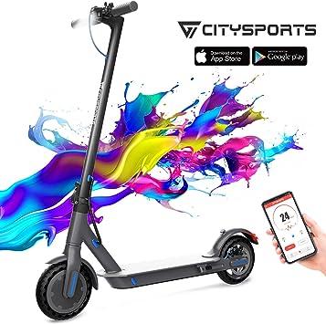 CITYSPORTS Scooter El/éctrico Plegable con 8,5 Ruedas Bluetooth /& Bater/ía de Largo- Alcance S/úper Ligero Adulto Patinete El/éctrico E-Scooter