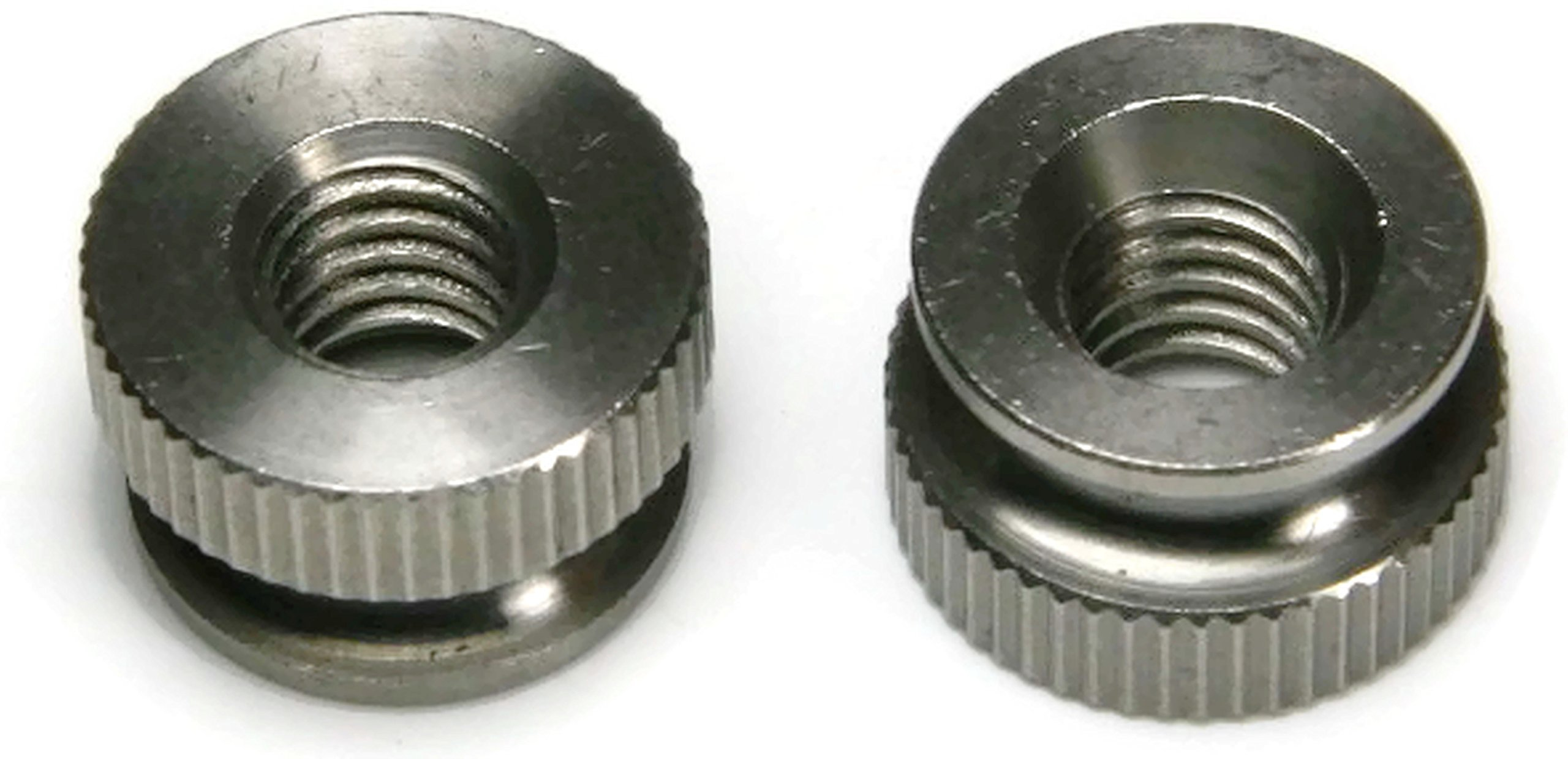 Knurled Head Thumb Nut 18-8 Stainless Steel Nuts USA Made - #10-32 (1/2'' Dia x 21/64'' THK) - Qty-10 by RAW PRODUCTS CORP