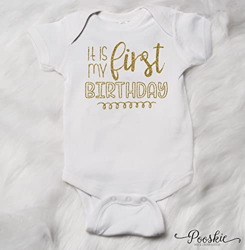 Its My First Birthday Outfit Bodysuit 1st Shirt