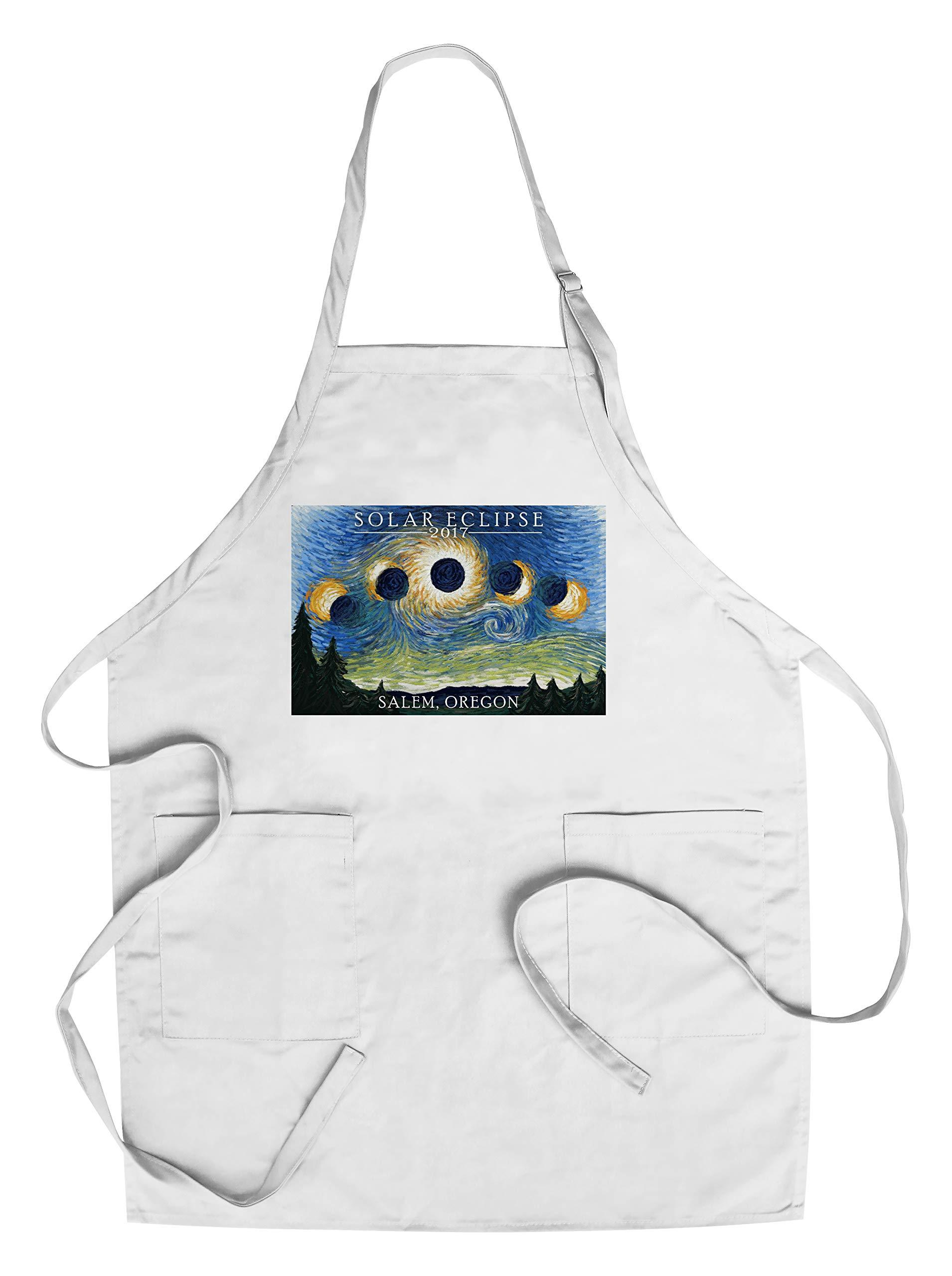 Salem, Oregon - Solar Eclipse 2017 - Starry Night (Cotton/Polyester Chef's Apron)