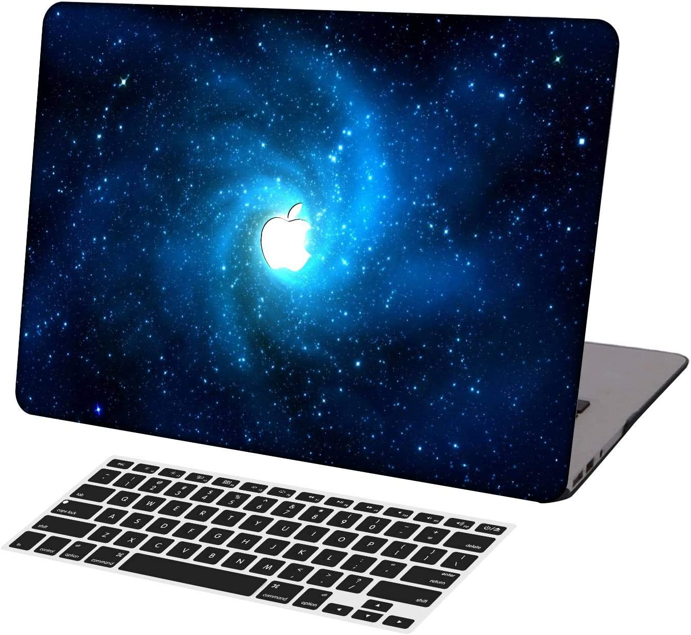 KSK KAISHEK Laptop Case for MacBook Air 13 inch Model A1369/A466,Plastic Ultra Slim Light Hard Shell Case Cover Keyboard Cover Compatible MacBook Air 13 Inch No Touch ID,Mysteries Stars