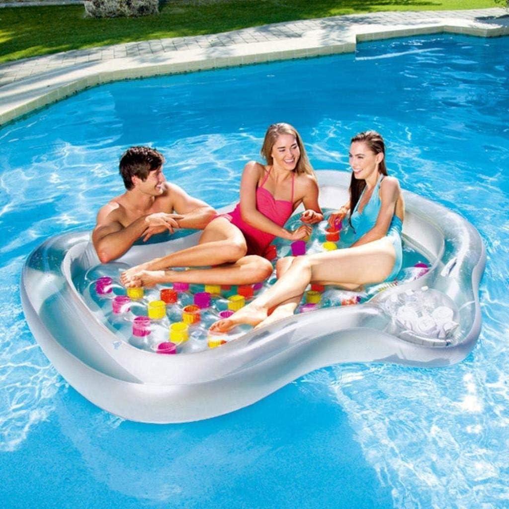 Balsa Flotante Gigante Divertido Piscina Flotador, Cama de Agua Inflable for Varias Personas Playa Playa Vacaciones Agua Juguete, Piscina de Verano Balsa Tumbona for Adultos y niños: Amazon.es: Deportes y aire libre