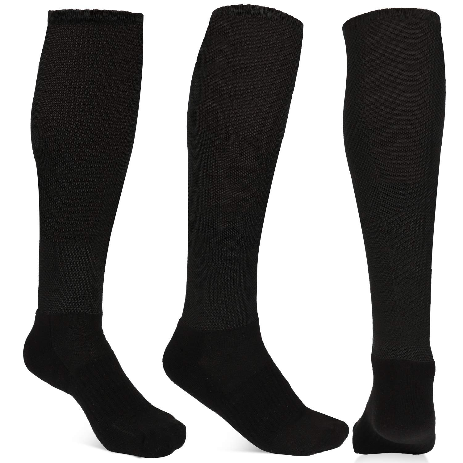 8ac1561b2 Athletic Over the Calf Compression Crew Socks for Mens and Boys (Black) at  Amazon Men's Clothing store: