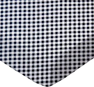 product image for SheetWorld Fitted Bassinet Sheet - Navy Gingham Check - Made In USA