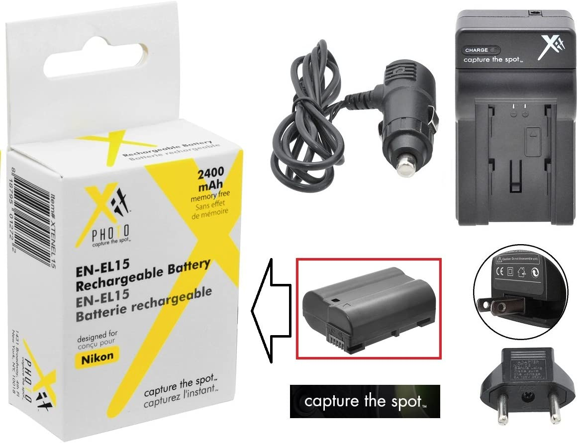 2400mAh 3.6V Lithium-Ion Compatible with Canon BP-727 Digital Camera Batteries and Chargers Replacement for Canon VIXIA HF M52 Battery and Charger with Car Plug and EU Adapter
