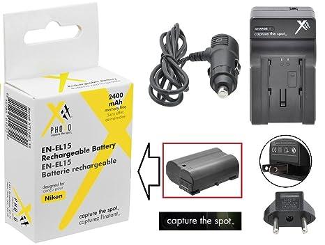 Batería de Ion de Litio EN-EL15 de Alta Capacidad y Cargador de CA ...