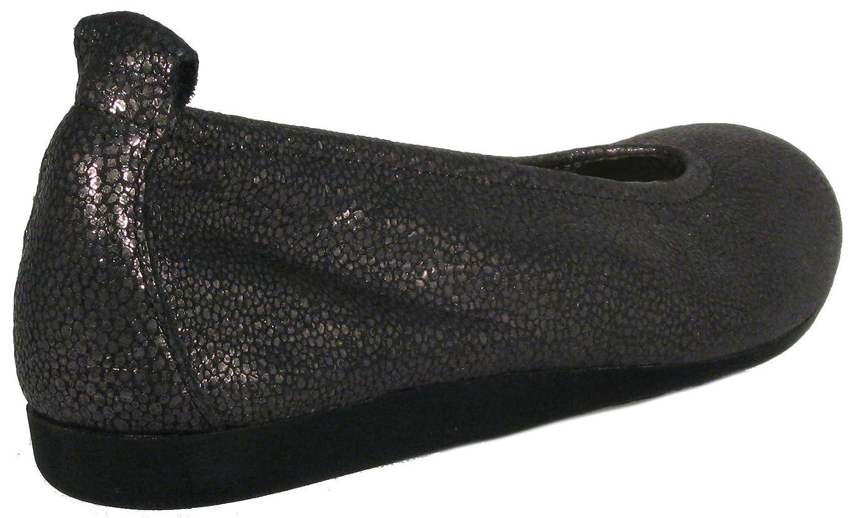 Arche Women's Laius Ballet Flat B0777QK8HQ 41 M EU|Etain/Noir