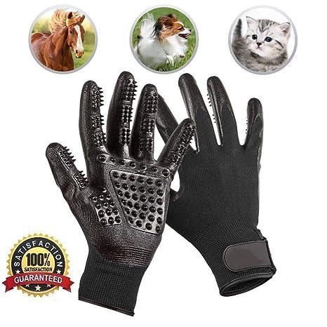 Amazon.com: Guantes de aseo para mascotas, guantes de aseo ...