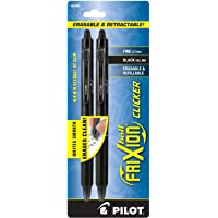 PILOT FriXion Clicker Erasable, Refillable & Retractable Gel Ink Pens, Fine Point, Assorted Color Inks, 2-Pack (31483) 2…