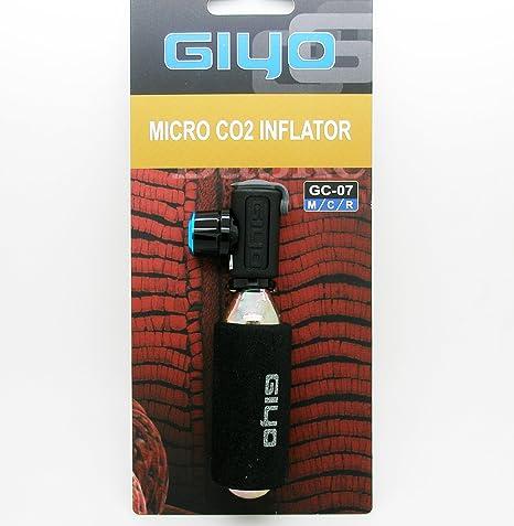 Micro Adaptador Inflador Valvula Schrader y Presta Giyo Botella ...