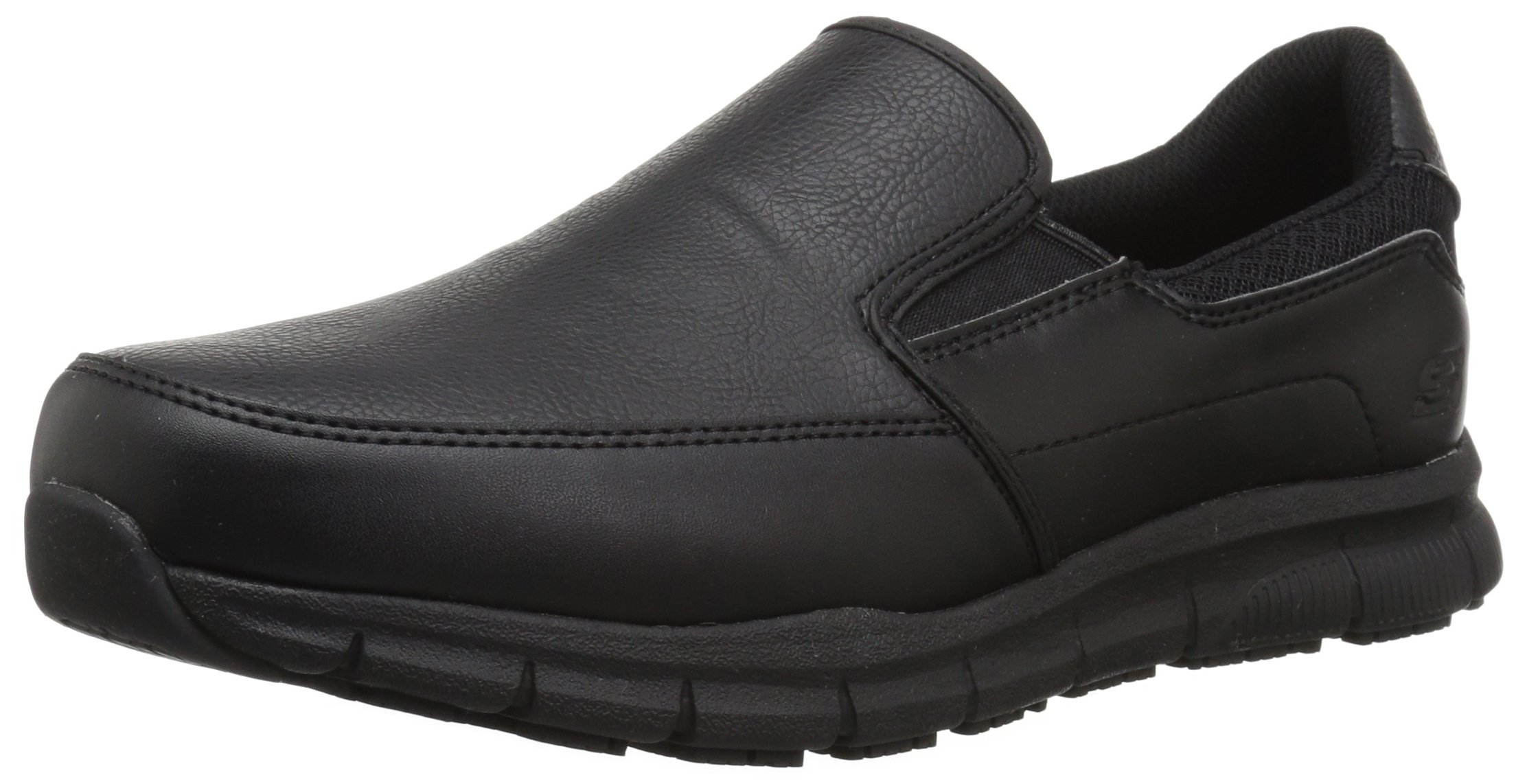 Skechers for Work Men's Nampa-Groton Food Service Shoe,Black Polyurethane,9 W US by Skechers