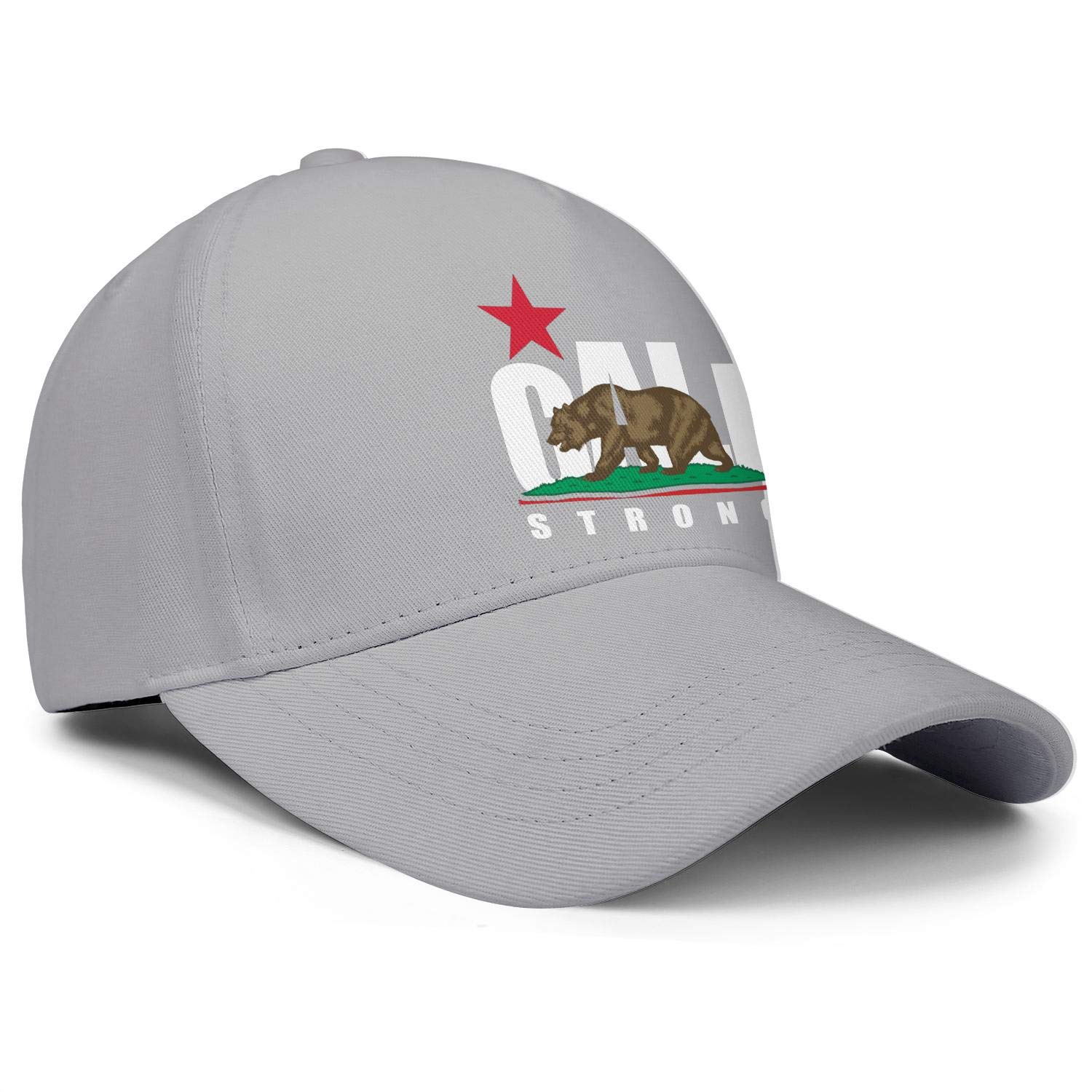 CALI Strong is The Original California Unisex Baseball Cap Two-Tone Stretch Fishing Caps Adjustable Trucker Caps Dad-Hat