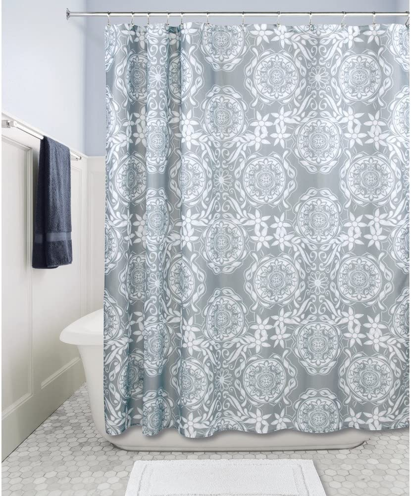 Home Goods Fabric Shower Curtain 72 X 72 INCH (Scroll Medallion)