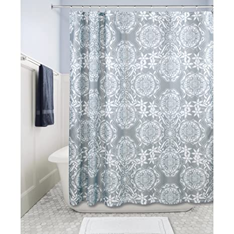 Home Goods Shower Curtains.Home Goods Co Fabric Shower Curtain 72 X 72 Inch Scroll Medallion
