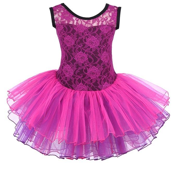 e16bc291e Amazon.com  Meeyou Little Girls  Flower Ovelay Ballet Tutu Dress ...