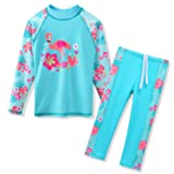 TFJH E Swimsuits for Girls Long Sleeve 2-Pieces
