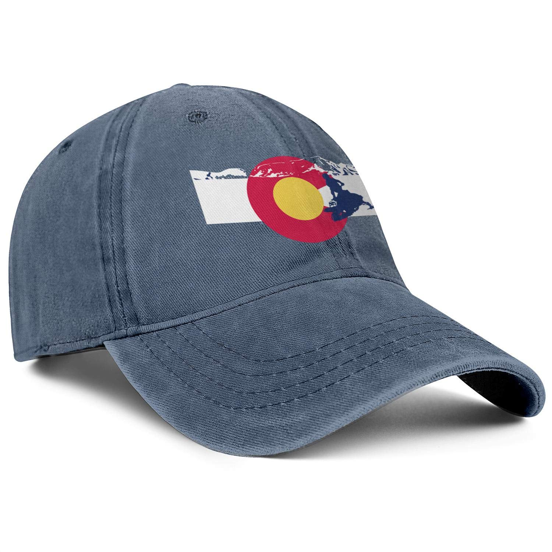 NSKJHYIp Unisex Fashion Wash Cloth Dad Hat Sanpback Snowmobile Colorado Flag Beach Baseball Hat