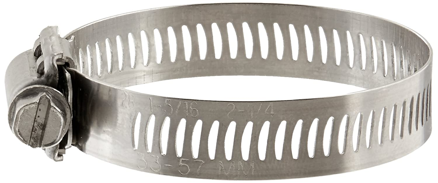 4-1//8 to 7 Diameter Range SAE Size 104 Pack of 10 Worm-Drive Breeze 63104H Marine Grade Power-Seal Stainless Steel Hose Clamp 1//2 Band Width