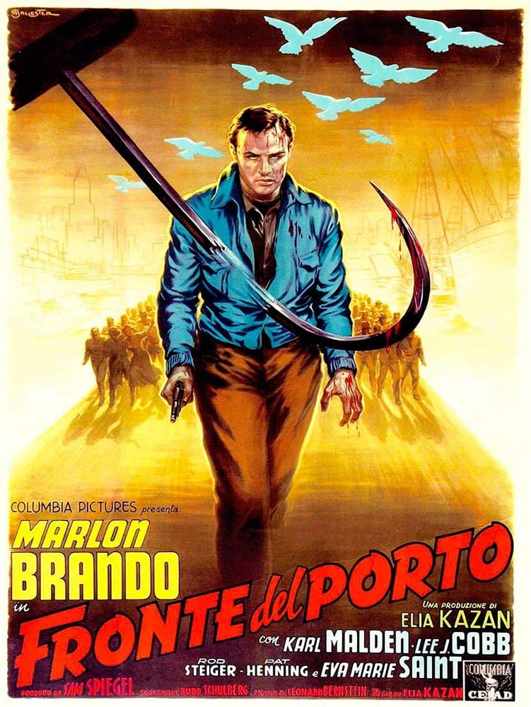 Wee Blue Coo Movie Film On The Waterfront Crime Drama Brando Italian Release USA Unframed Wall Art Print Poster Home Decor Premium