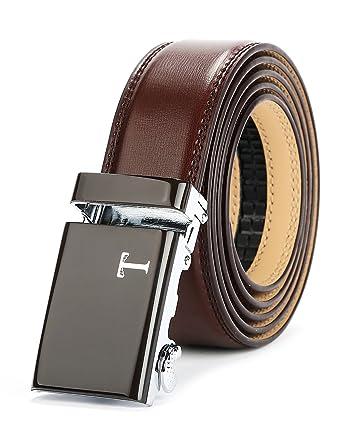 "cd0a71c8c08805 Tonywell Gürtel Herren Ratchet Gürtel mit Automatik 40mm Gürtelschnalle  (Eine Größe: 32 """