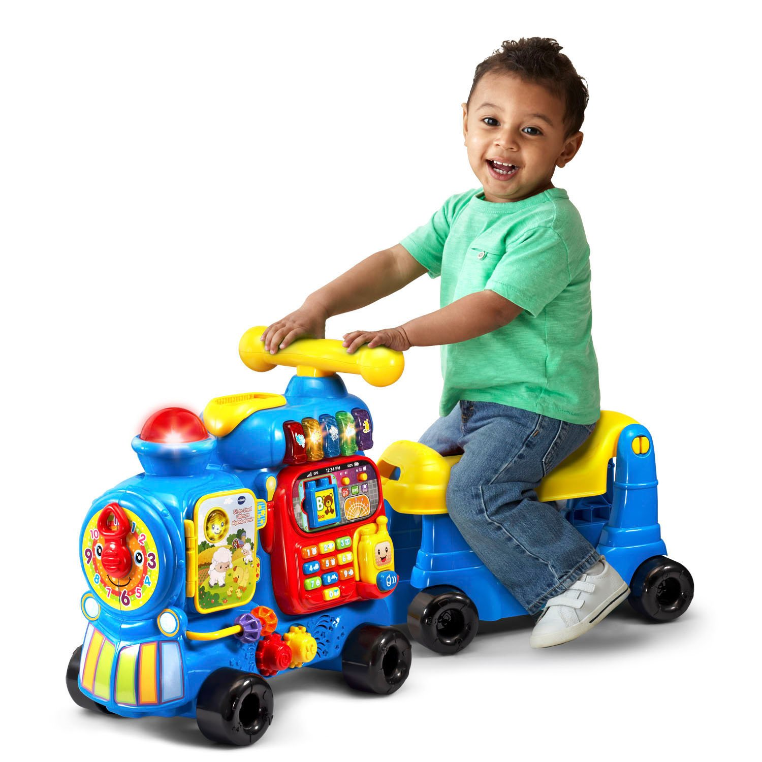 VTech Sit-to-Stand Ultimate Alphabet Train Amazon Exclusive, Blue by VTech (Image #1)