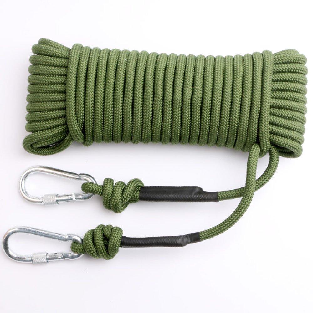 Vert Schlingen Corde D'Escalade Escalade De Secours Corde De Sauvetage Léger Corde De Sécurité CÂble D'Acier,vert-10m10mm 20m10mm