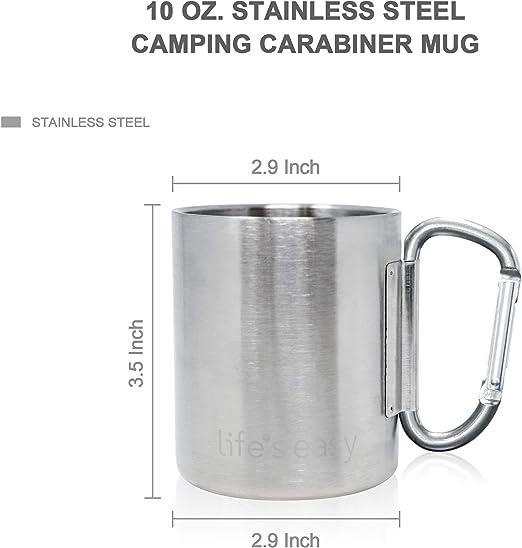 300 ML MF 33374 Stainless Steel Mug Carabiner Double Wall