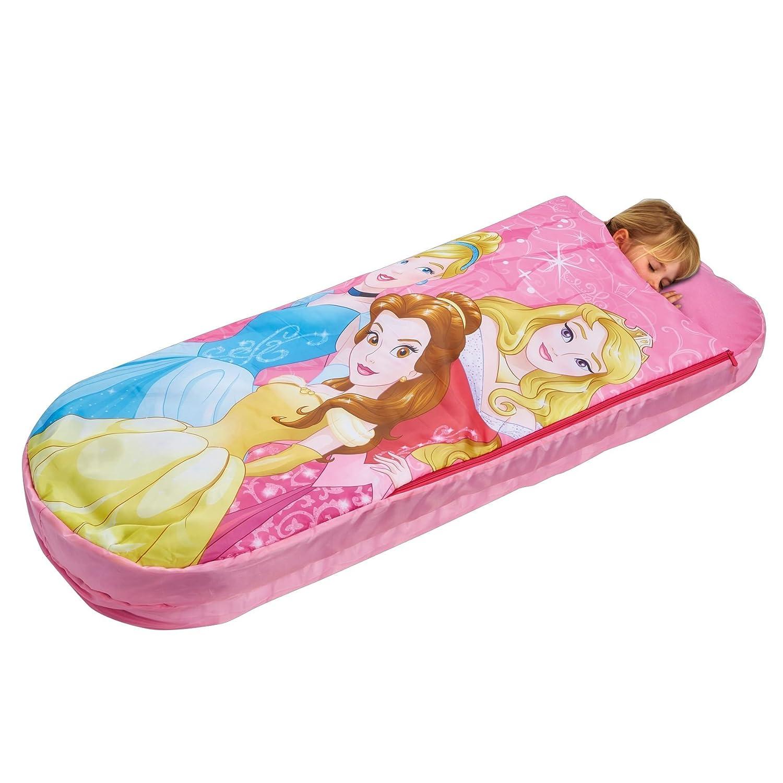 Disney Princesas Cama Hinchable y Saco de Dormir 2 en 5, Poliéster, Rosa, 150.00x62.00x20.00 cm: Disney Princess: Amazon.es: Hogar