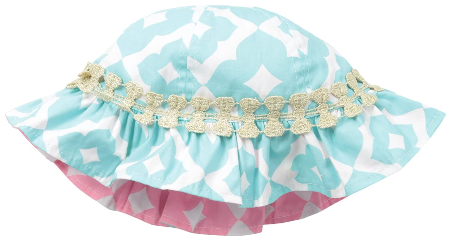 Mud Pie Baby-Girls Newborn Blue Geo Sunhat