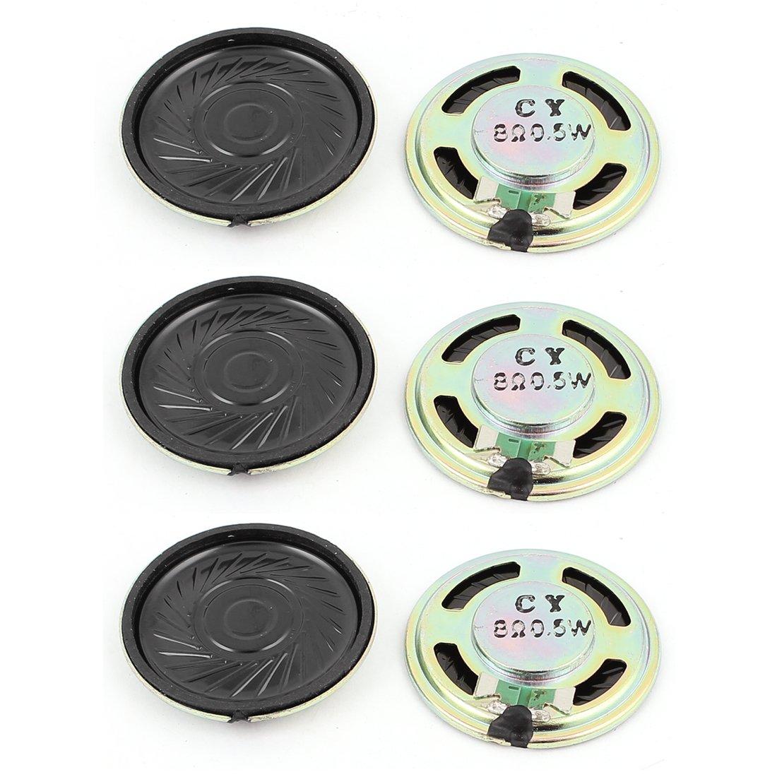 Sourcingmap/® 6stk 0.5W 36mm Durchmesser 8 Ohm Interner Mini Magnet Speaker Lautsprecher de